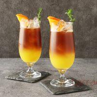ジュースを混ぜるだけ!フルーティーでさわやか♪簡単「オレンジアイスコーヒー」