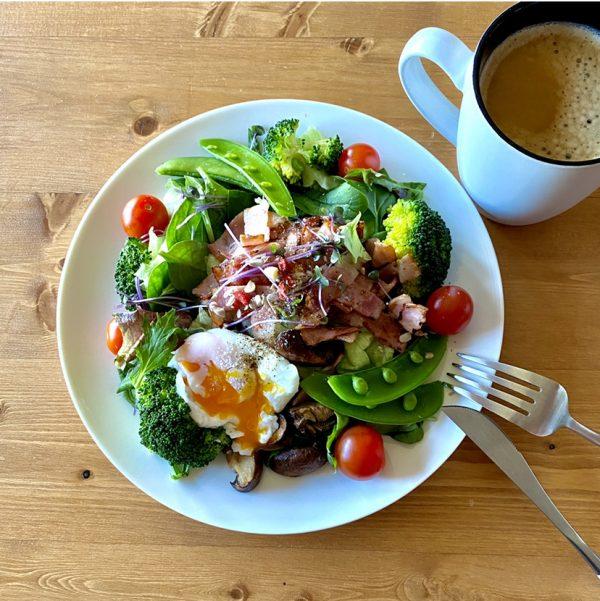 ダイエット中のたんぱく質多めの朝食