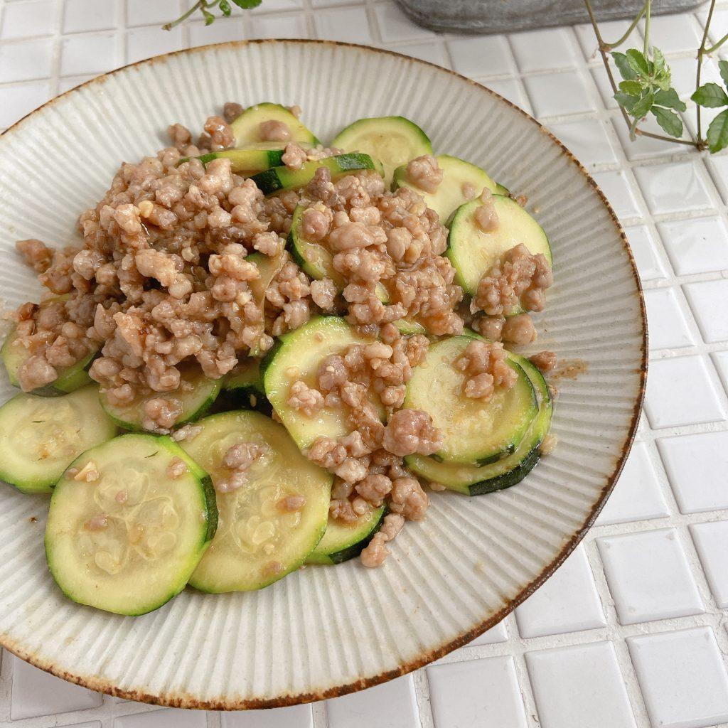 お弁当にも使える作り置き!簡単「ズッキーニとひき肉の味噌炒め」
