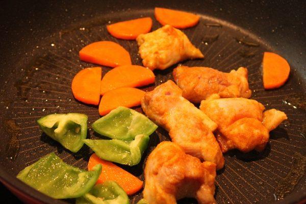 鶏肉のカレーケチャップ照り焼き