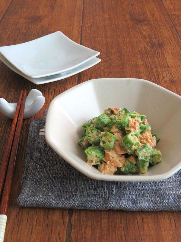 レンジで簡単☆お弁当の副菜に◎おくらのツナマヨ和風サラダ bykaana57さん