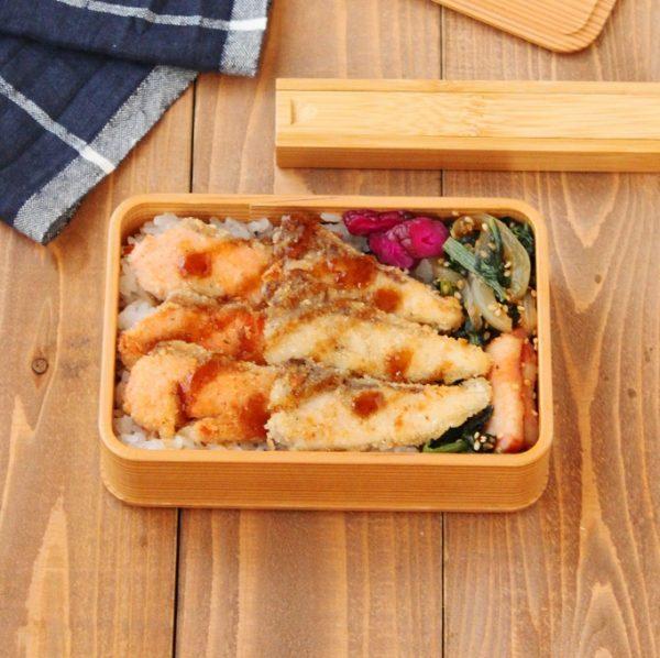 夕食の残りで簡単!「お刺し身カツ」「小松菜炒め」2品弁当