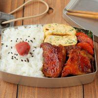 ごはんが進む♪「鶏肉のカレーケチャップ照り焼き」「パセリ卵焼き」2品弁当