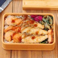 夕食の残りで簡単!「お刺身カツ」「小松菜炒め」2品弁当
