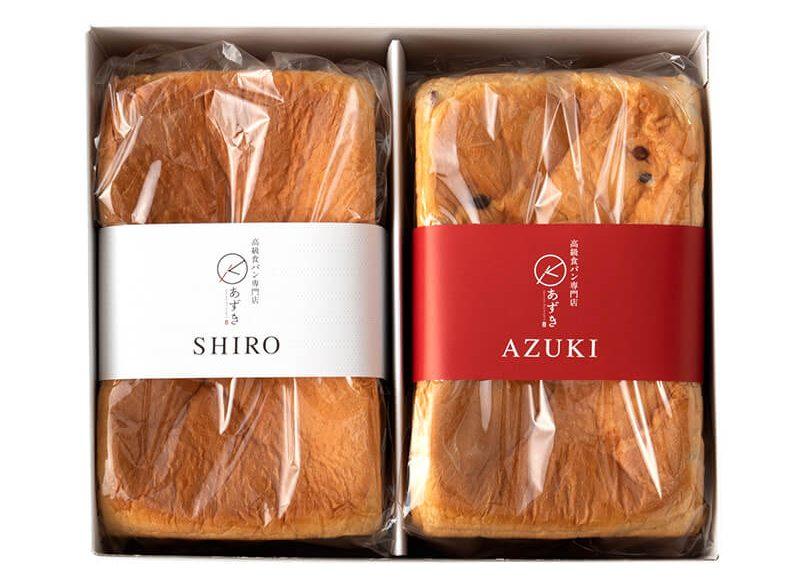 高級食パン専門店あずき「紅白食パン」