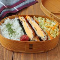 簡単で楽しい!「豚肉の卵サンド」「キャベツとにんじんのごま塩」2品弁当