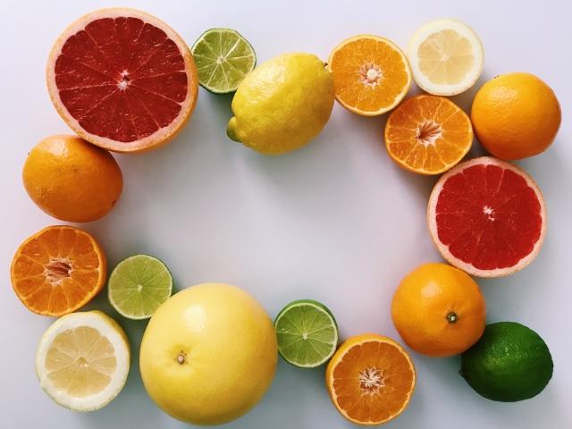 ビタミンたっぷりの柑橘類