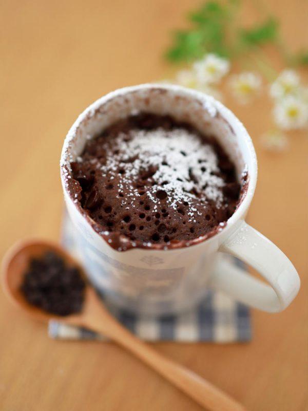 ココアの簡単レンジケーキ☆ホットケーキミックス使用の朝ごはん&おやつ byめろんぱんママさん