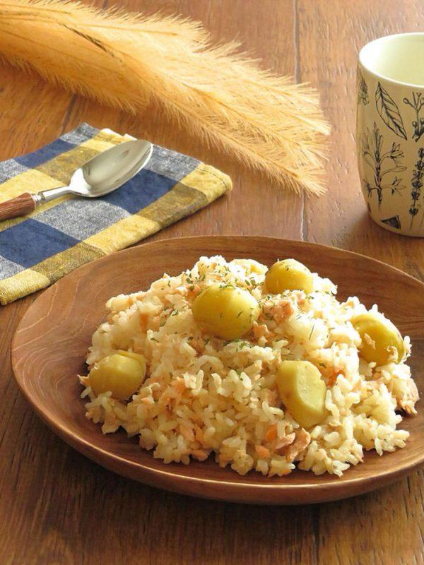 炊くまで5分☆秋鮭と栗の炊き込みバターライス bykaana57さん