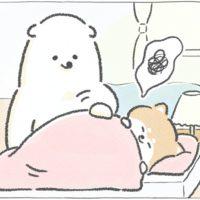 【四コマ漫画】なかなか起きない時の目覚まし作戦|おはよう!おしばと愉快な仲間たち