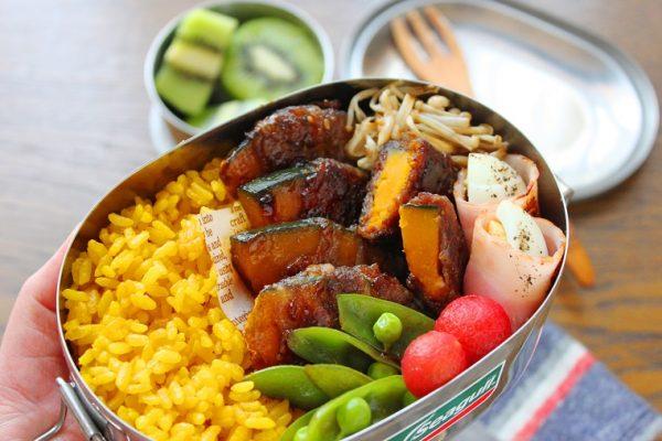 焼肉のたれで簡単!カレー風味のお弁当おかず「かぼちゃの肉巻き」 by料理家 かめ代。さん