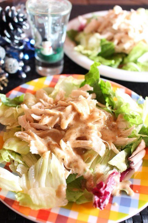 <鶏ささみの棒々鶏風サラダ> by準Jun(はーい♪にゃん太のママ改め)さん