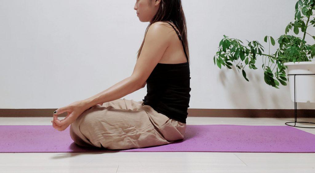 瞑想(悪い姿勢)