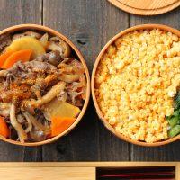 フライパン1つレシピ!「薄切り肉じゃが」「卵そぼろご飯」2品弁当