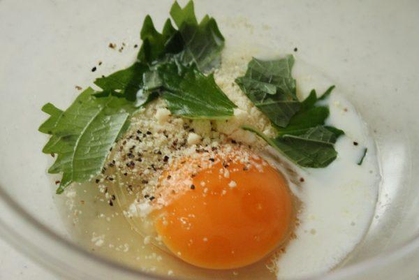 大葉チーズ卵