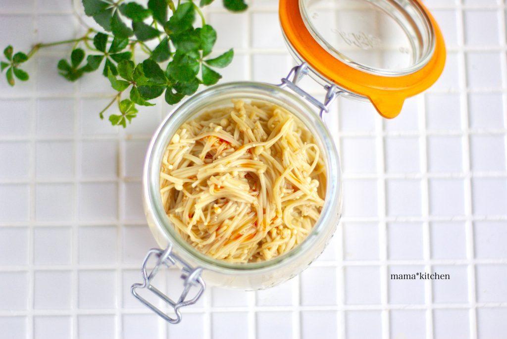 後を引く味!ご飯のおともに「えのきのラー油ナムル」の作り置き