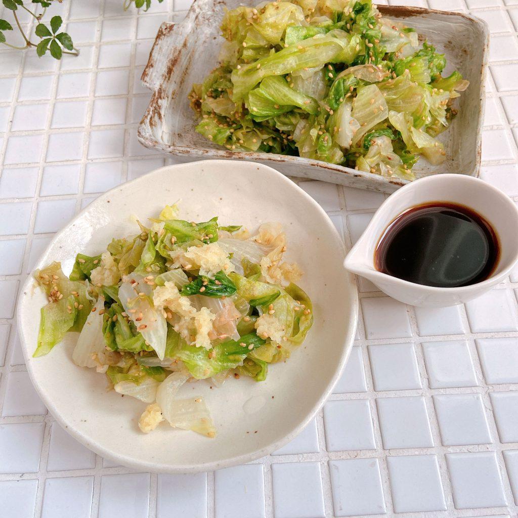 サッと茹でるだけ!生姜+ポン酢で簡単「ごまレタス」の作り置き