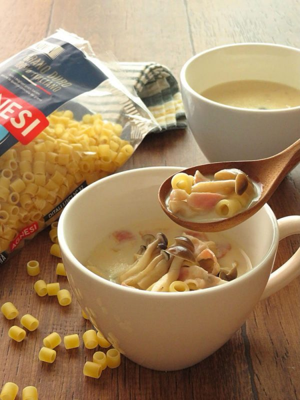 しめじとベーコンの和風豆乳スープ bykaana57さん