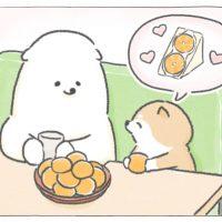 【四コマ漫画】vol.12「みかんサンド」|おはよう!おしばと愉快な仲間たち