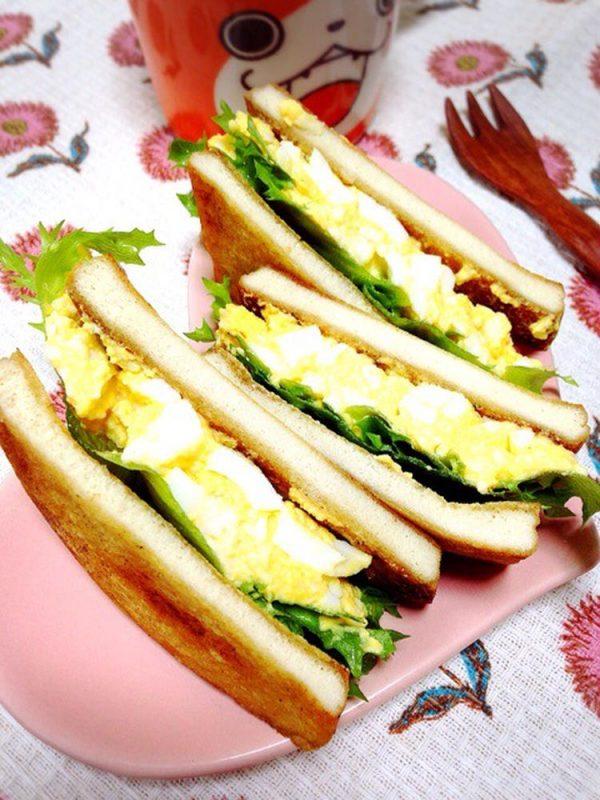 糖質オフでヘルシー!「高野豆腐で卵サンド」