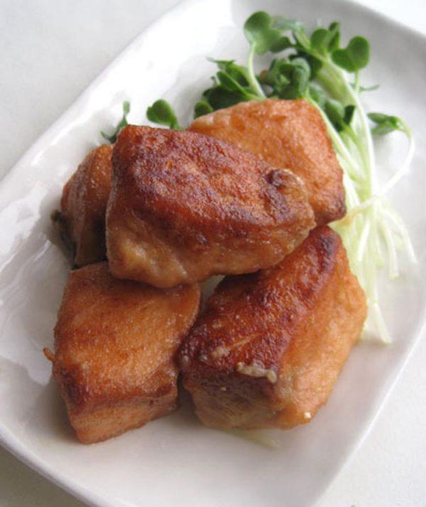 秋鮭唐揚げ柚子ショウガ風味