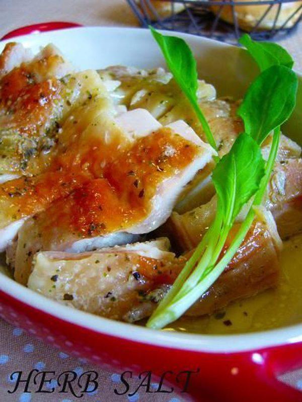 レンジ調理で手軽に!「ハーブソルト蒸し鶏」
